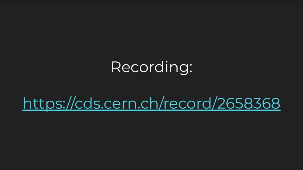 Recording: https://cds.cern.ch/record/2658368