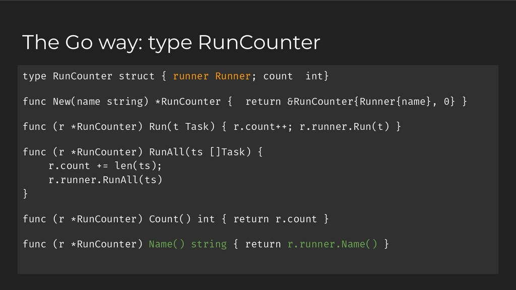 type RunCounter struct { runner Runner; count i...
