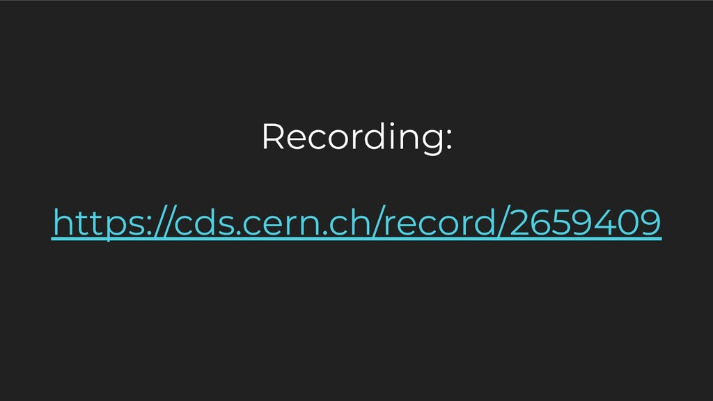 Recording: https://cds.cern.ch/record/2659409