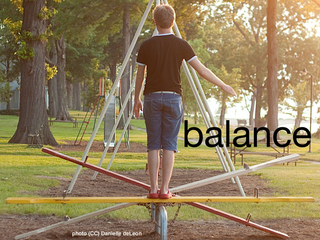 balance photo (CC) Danielle deLeon