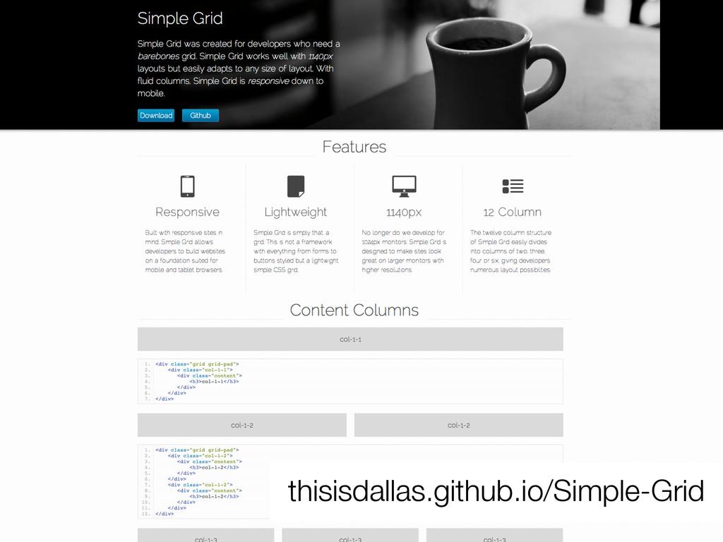 thisisdallas.github.io/Simple-Grid