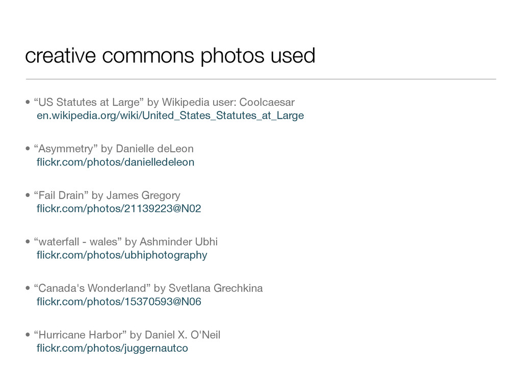 """creative commons photos used • """"US Statutes at ..."""