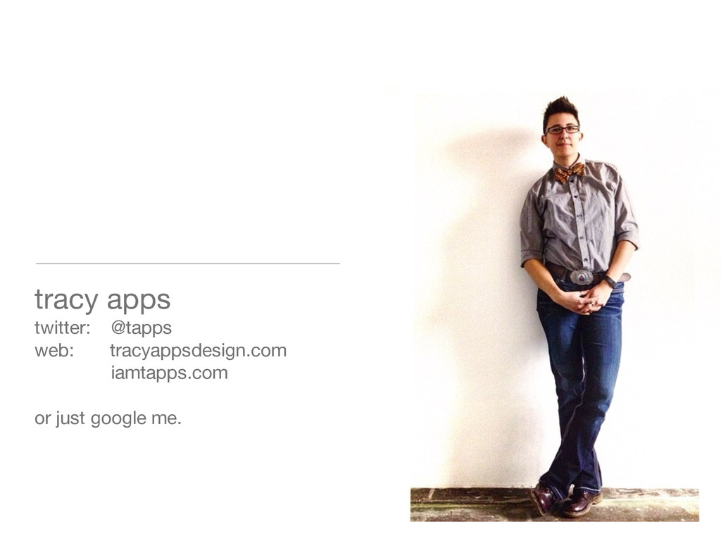 tracy apps twitter: @tapps web: tracyappsdesign...