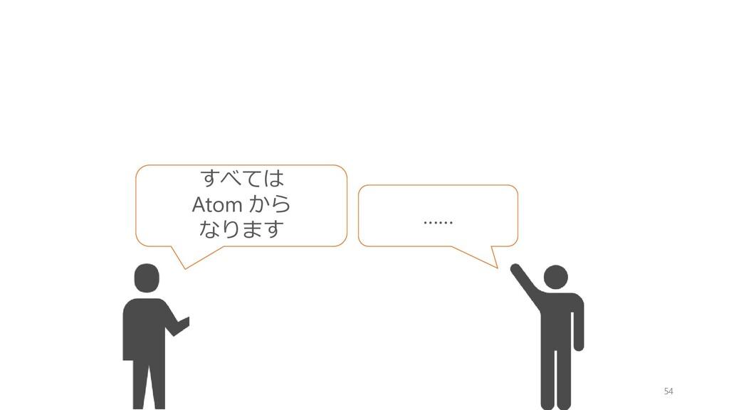 54 すべては Atom から なります ……