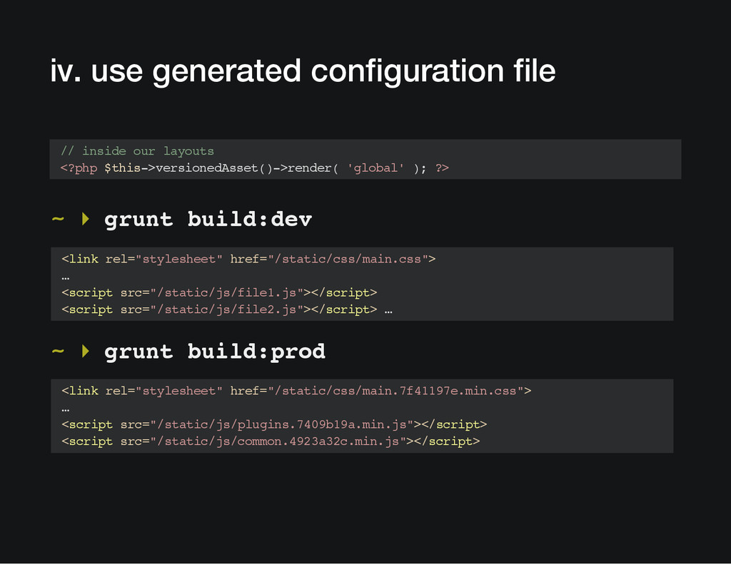 iv. use generated configuration file // inside ...