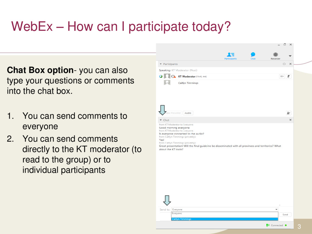 WebEx – How can I participate today? 3 Chat Box...