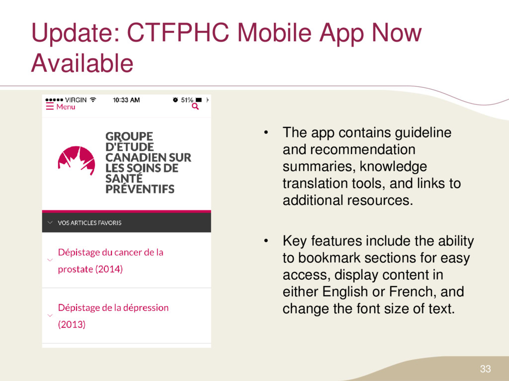 Update: CTFPHC Mobile App Now Available • The a...