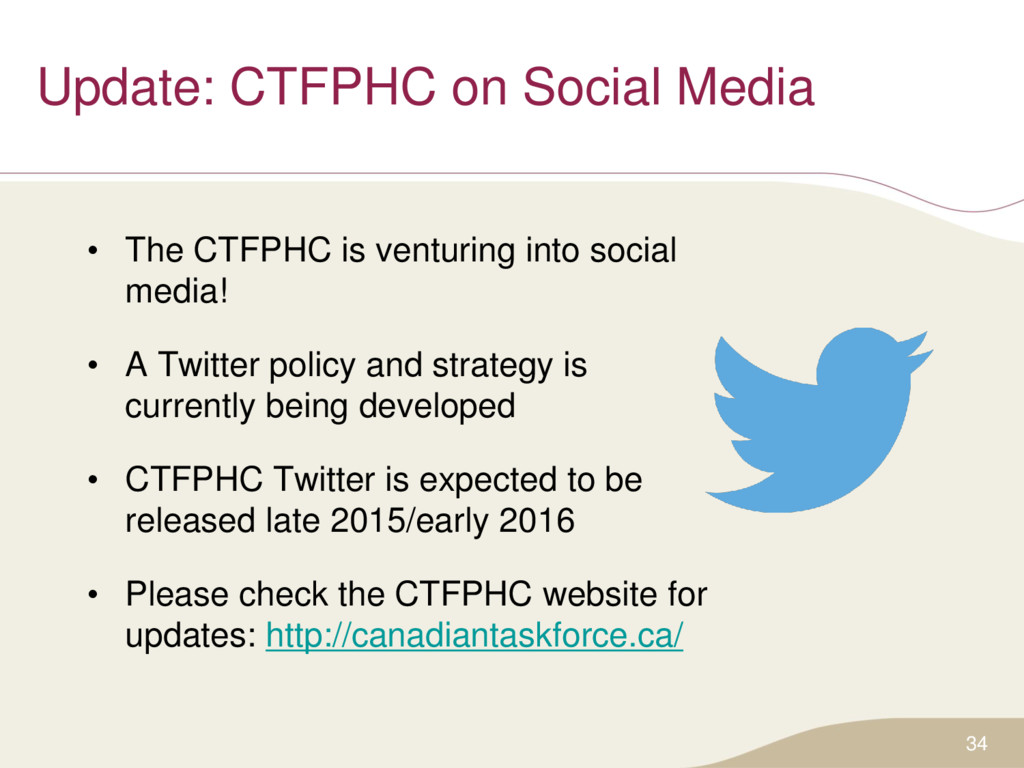 Update: CTFPHC on Social Media • The CTFPHC is ...