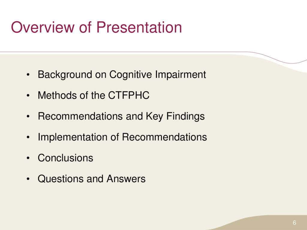 Overview of Presentation • Background on Cognit...