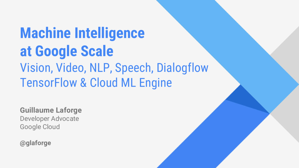 Machine Intelligence at Google Scale Vision, Vi...