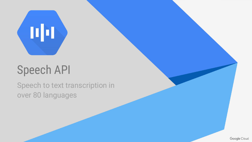 Speech API Speech to text transcription in over...