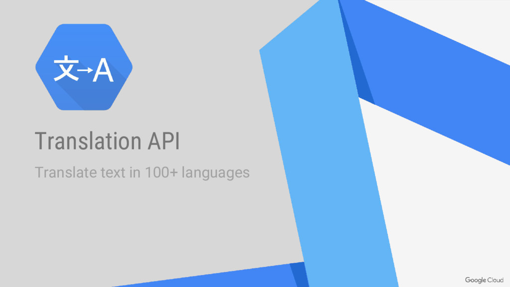 Translation API Translate text in 100+ languages