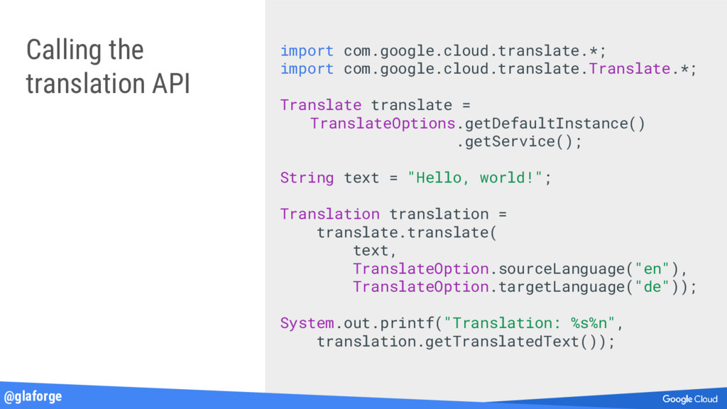 @glaforge Calling the translation API import co...