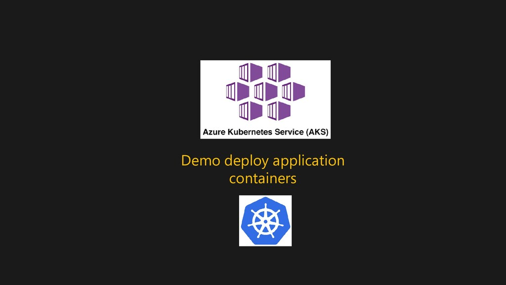 Demo deploy application containers