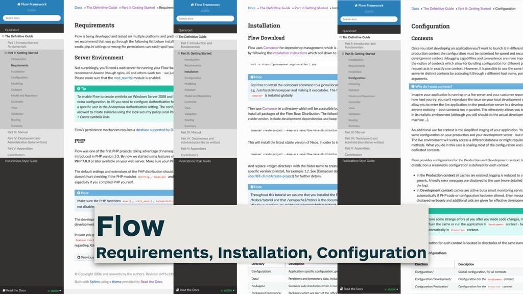 flowframework RTD Flow Requirements, Installatio...