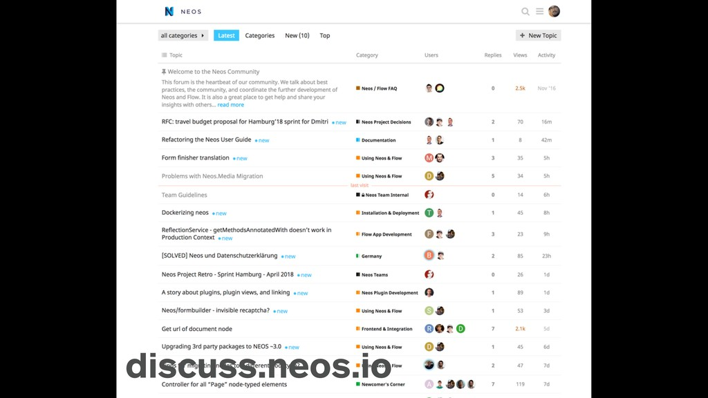 discuss discuss.neos.io