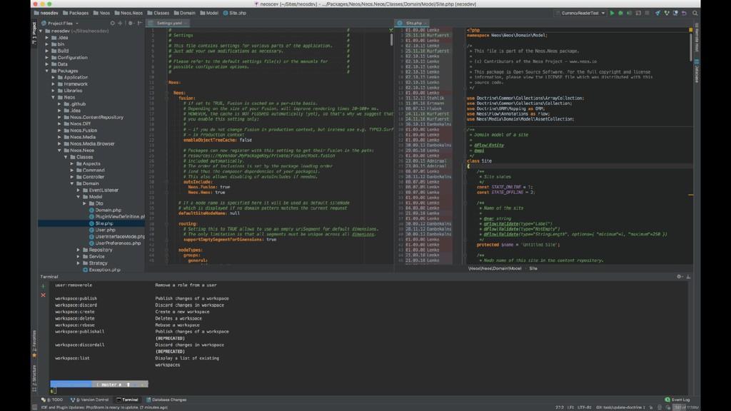 phpstorm screenshot