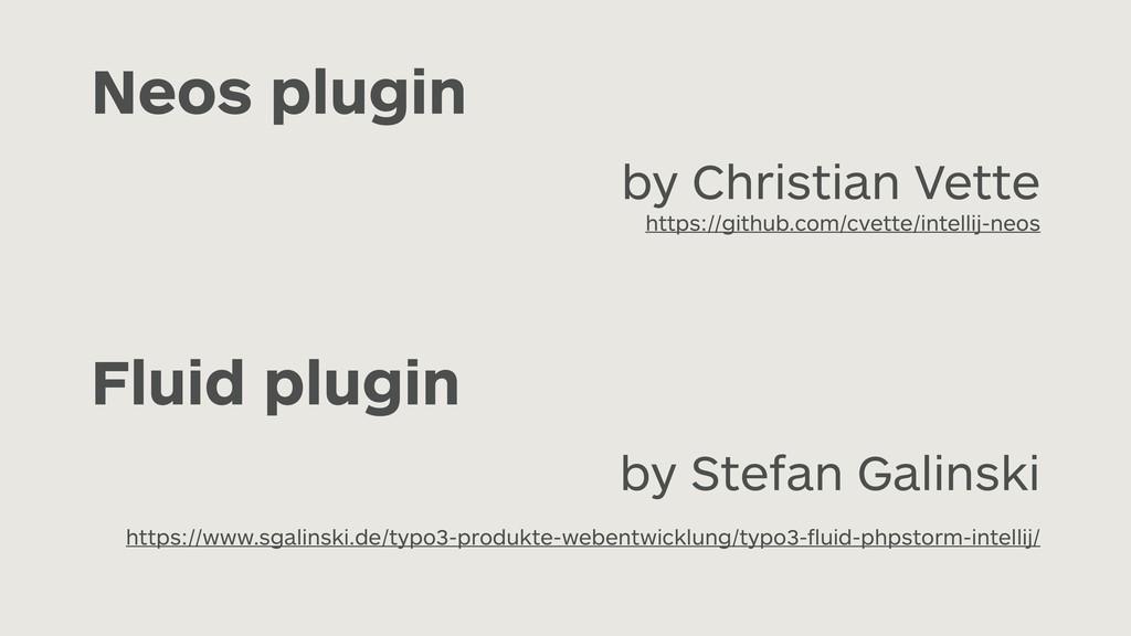 Neos plugin by Christian Vette  https://github...