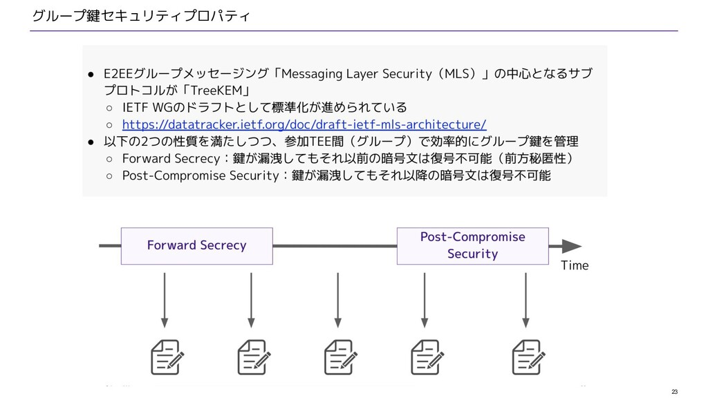 23 グループ鍵セキュリティプロパティ