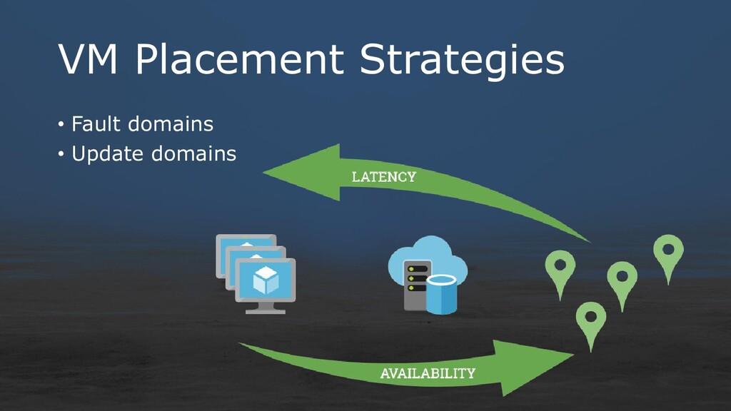VM Placement Strategies • Fault domains • Updat...