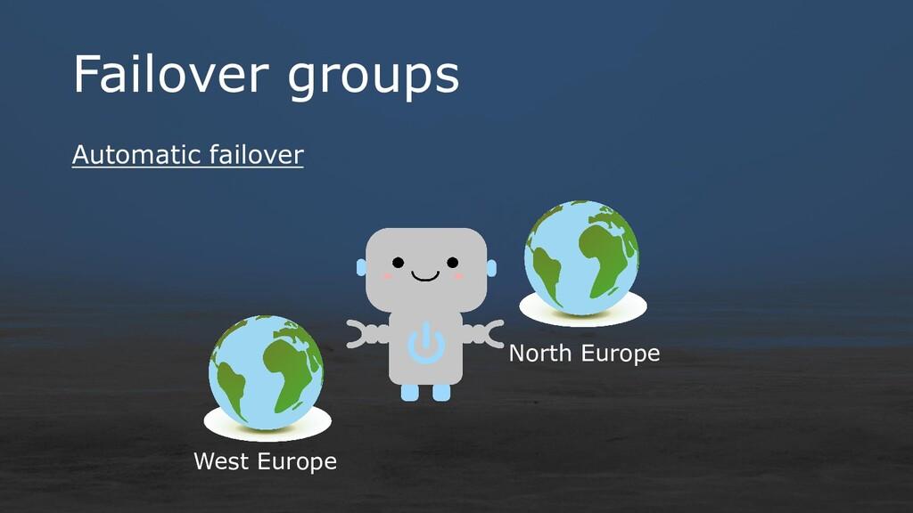 Failover groups Automatic failover West Europe ...