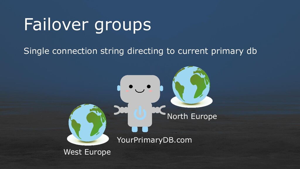 Failover groups Single connection string direct...