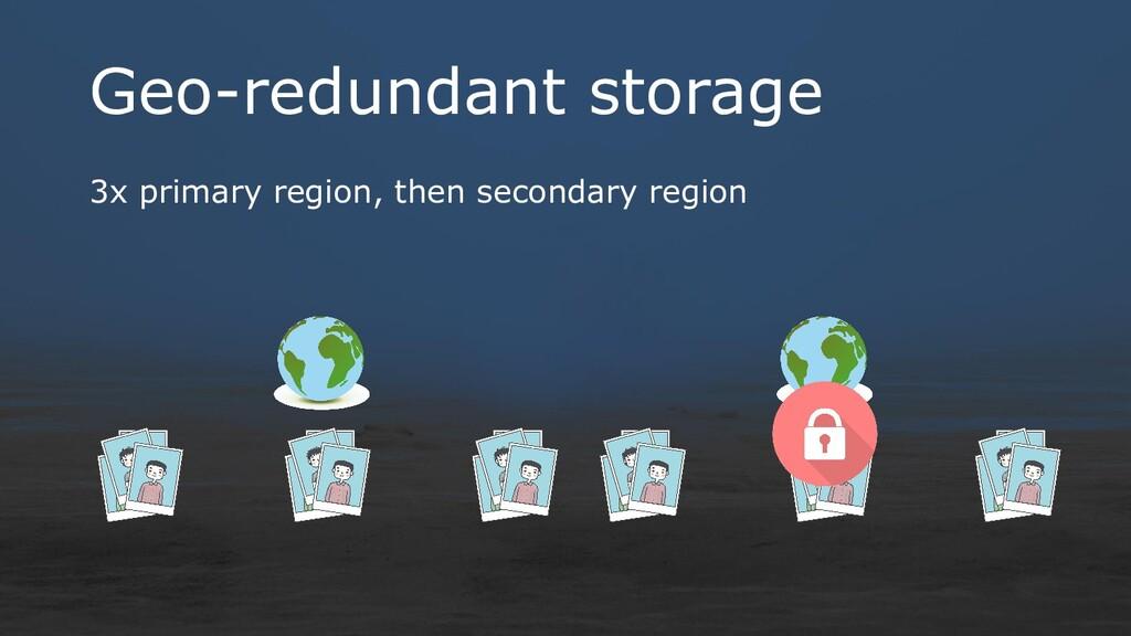 Geo-redundant storage 3x primary region, then s...