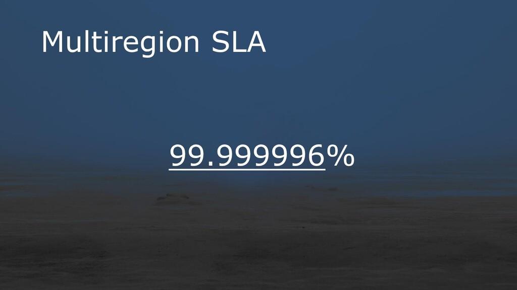 Multiregion SLA 99.999996%