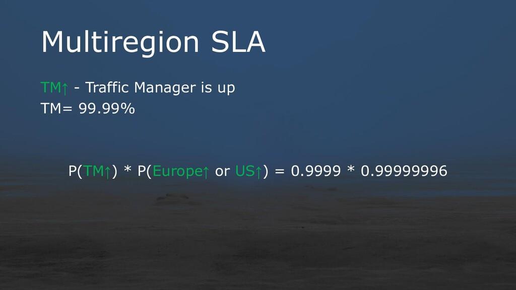 Multiregion SLA TM↑ - Traffic Manager is up TM=...
