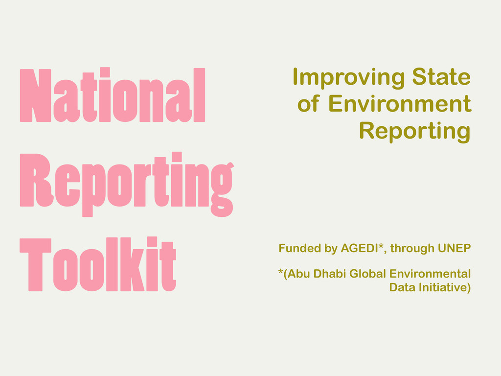 National Reporting Toolkit Improving State of E...