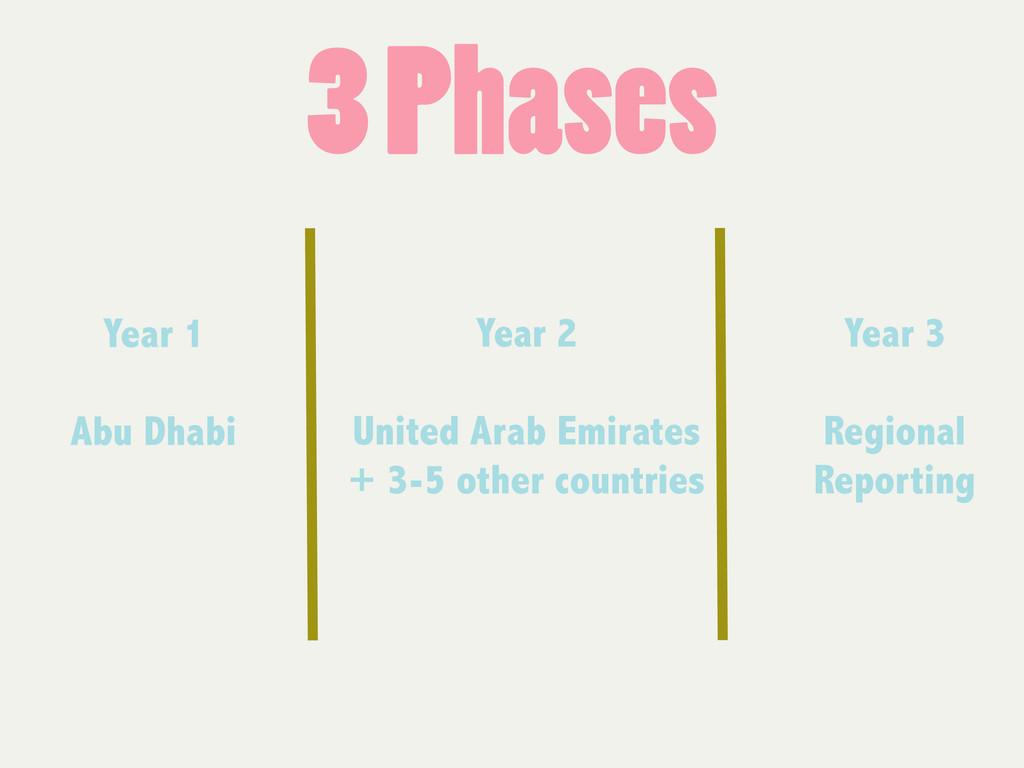 3 Phases Year 1 Abu Dhabi Year 3 Regional Repor...