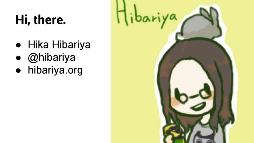 Hi, there. ● Hika Hibariya ● @hibariya ● hibari...