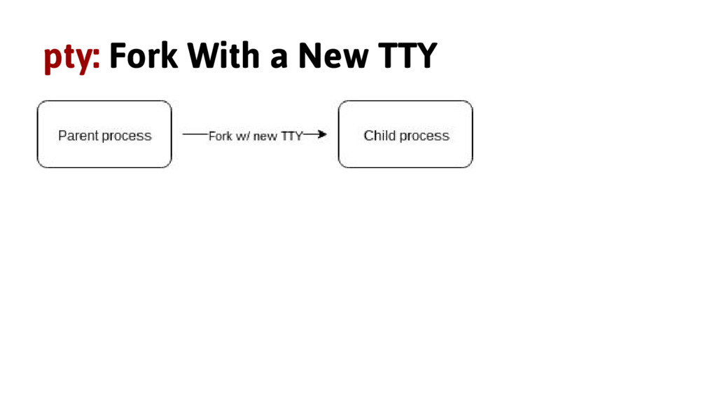 pty: Fork With a New TTY