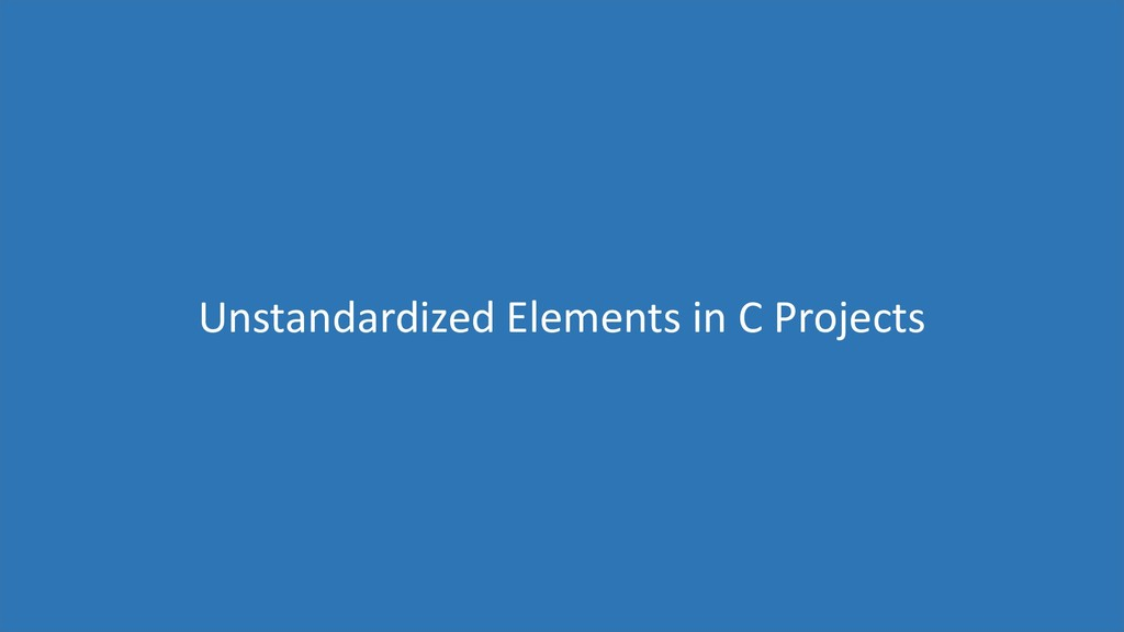 66 Unstandardized Elements in C Projects