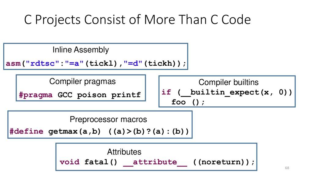 "68 if (__builtin_expect(x, 0)) foo (); asm(""rdt..."