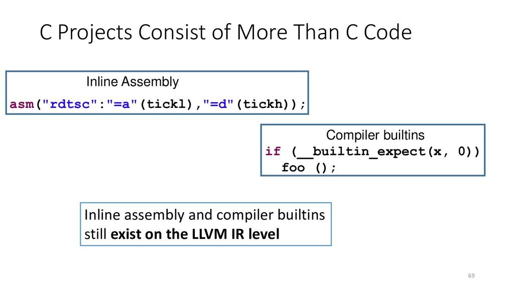 "69 if (__builtin_expect(x, 0)) foo (); asm(""rdt..."
