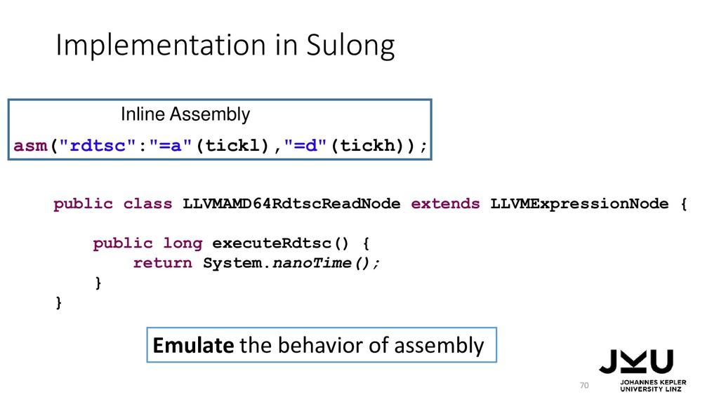 Implementation in Sulong 70 public class LLVMAM...