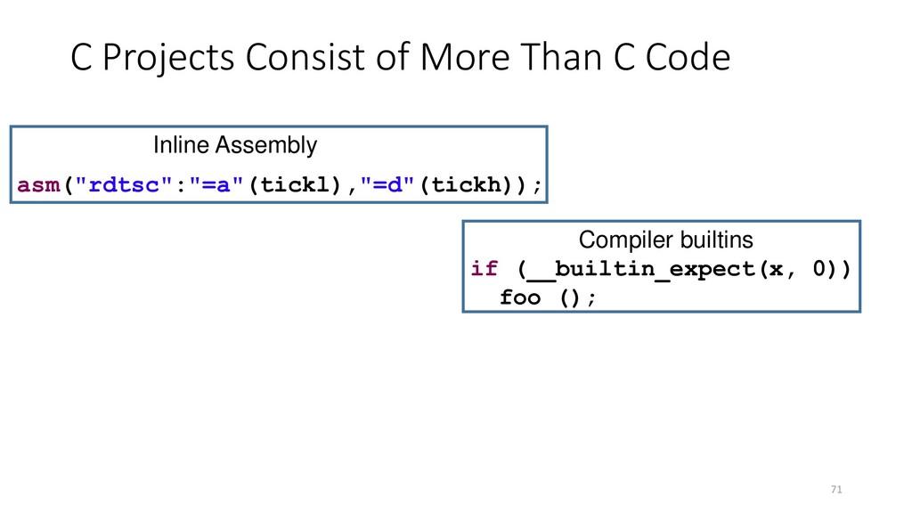 "71 if (__builtin_expect(x, 0)) foo (); asm(""rdt..."