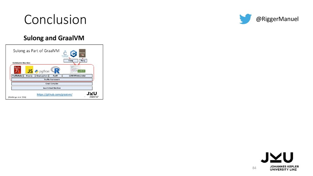 Conclusion 84 @RiggerManuel Sulong and GraalVM