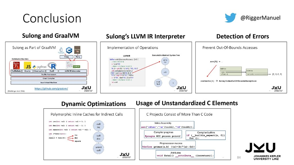 Conclusion 84 @RiggerManuel Sulong and GraalVM ...