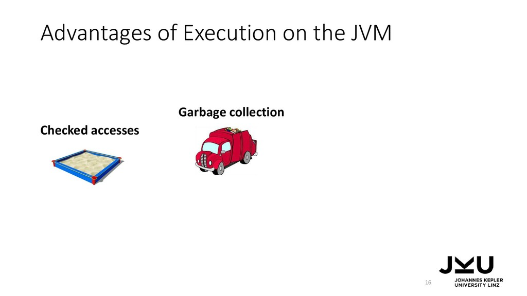 Advantages of Execution on the JVM 16 Checked a...