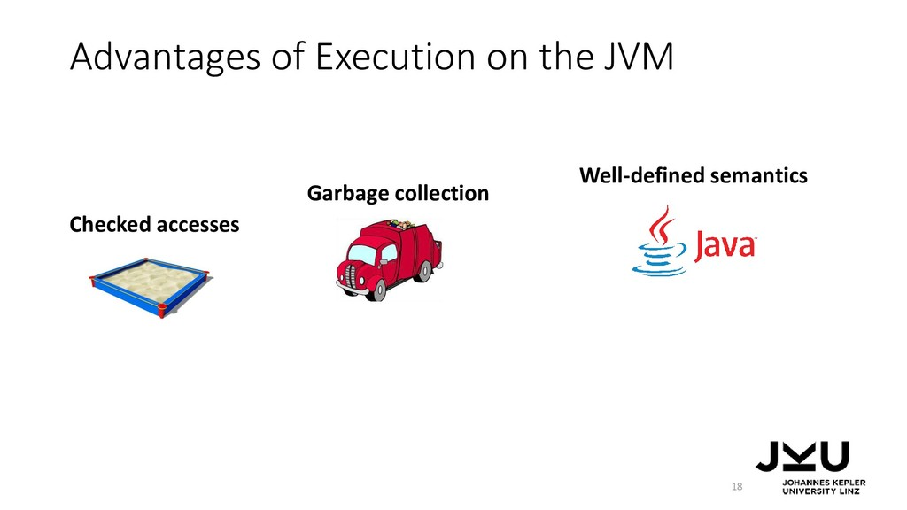 Advantages of Execution on the JVM 18 Checked a...