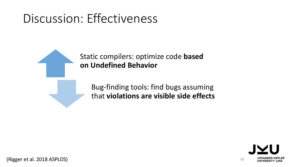 Discussion: Effectiveness 58 Static compilers: ...