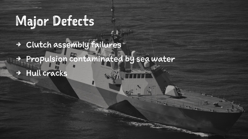 Major Defects 4 Clutch assembly failures 4 Prop...