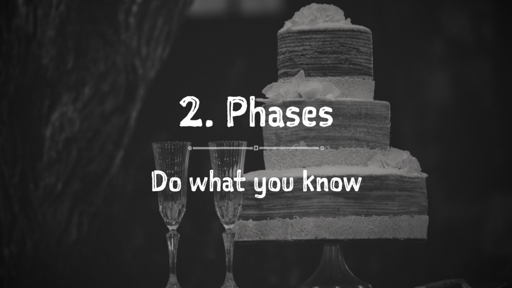 2. Phases Do what you know
