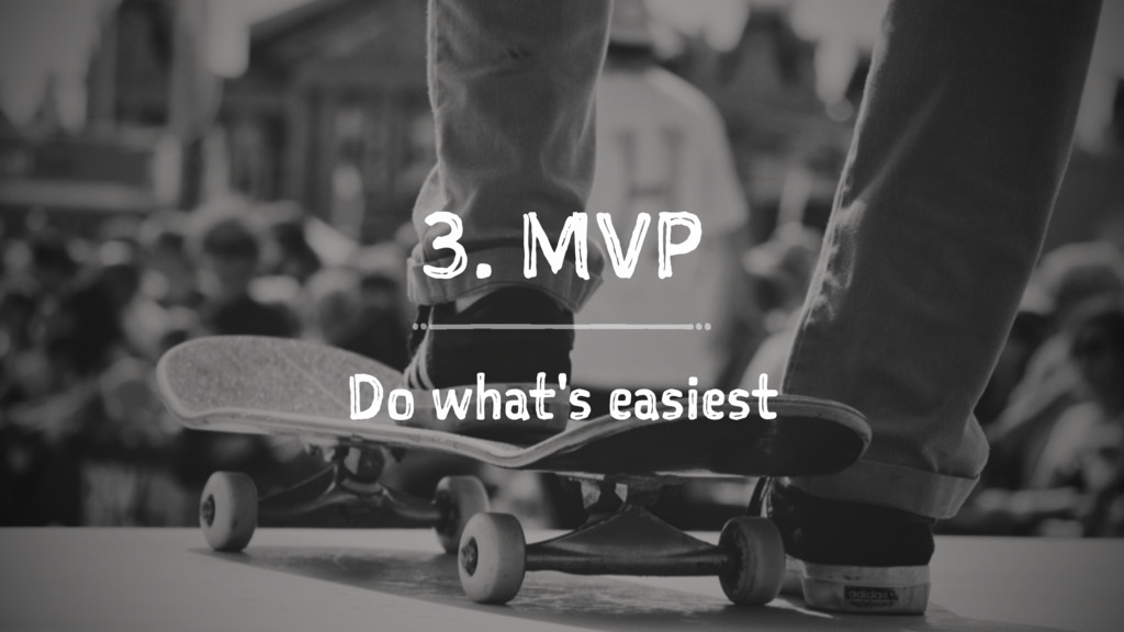 3. MVP Do what's easiest