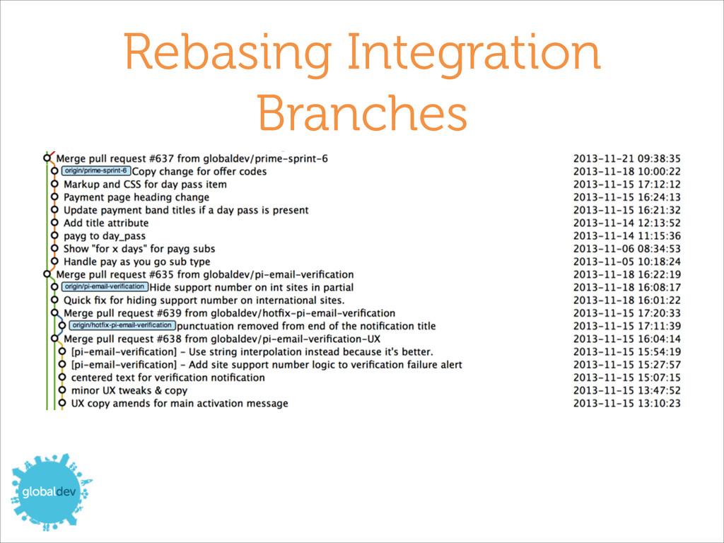 Rebasing Integration Branches