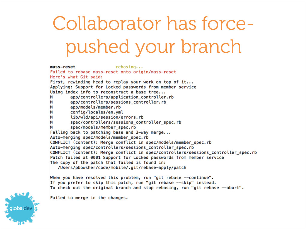 Collaborator has force- pushed your branch