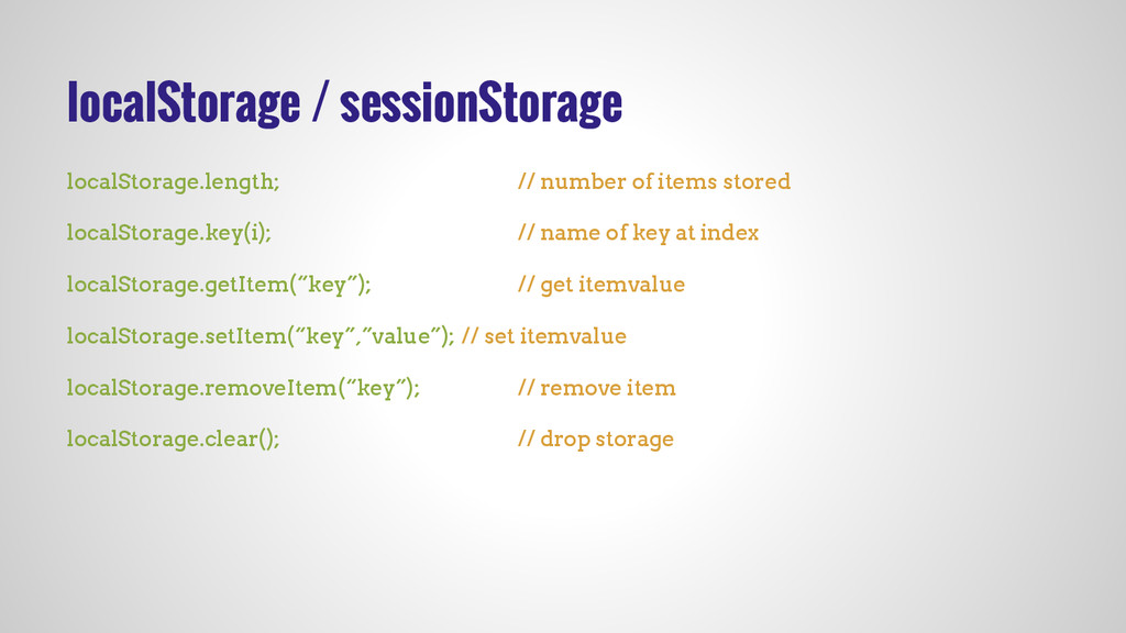 localStorage / sessionStorage localStorage.leng...