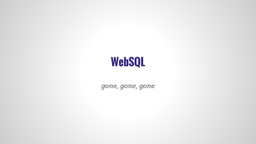 WebSQL gone, gone, gone